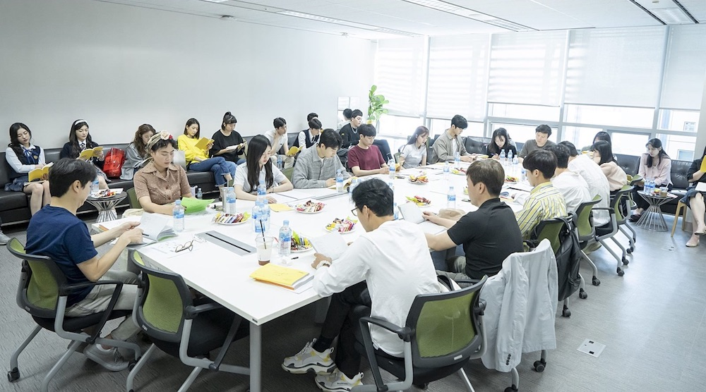 """First script reading for MBC drama series """"Ha-Roo Found by"""